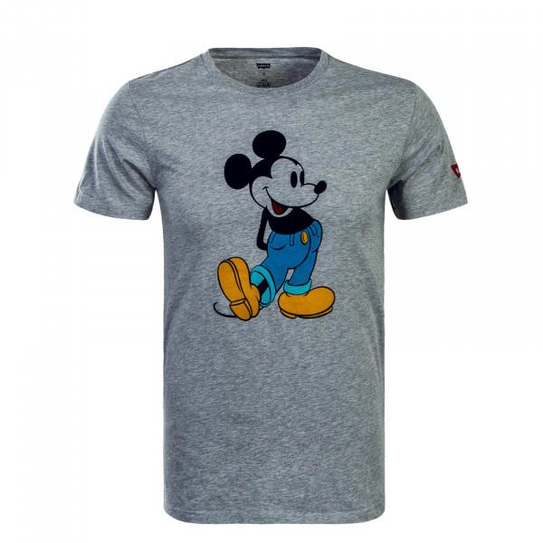 Herren T-Shirt Graphic Mickey Front Grey
