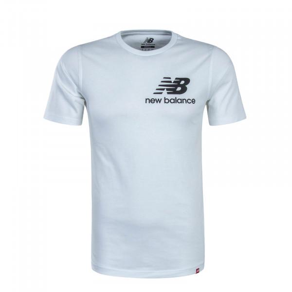 Herren T-Shirt Stacked White
