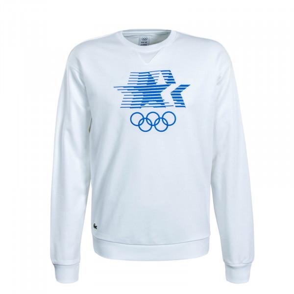 Herren Sweatshirt 5763 White Blue