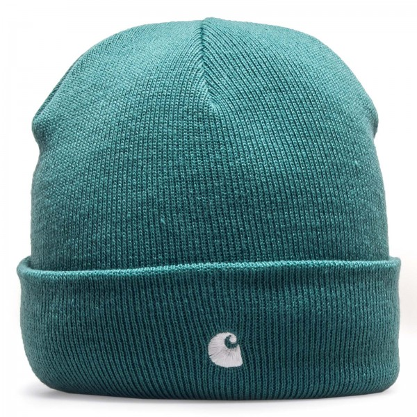 Carhartt Beanie Madison Soft Teal White