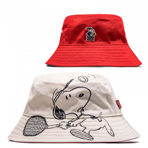 Hut Reversible Snoopy Sport Bucket White