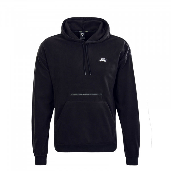 Herren Hoody Fleece Hoody Novelty Black White
