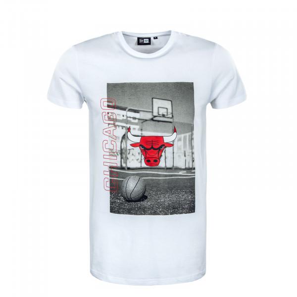 Herren T-Shirt - NBA Photographic Chicago Bulls - White