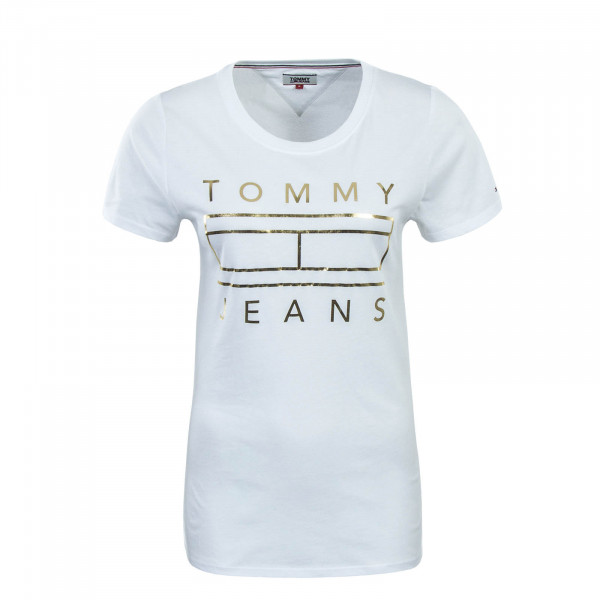 Tommy Wmn TS Metallic White Gold