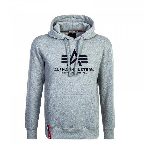 Alpha Hoody Basic Grey Black