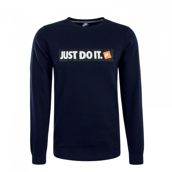 Herren Sweatshirt NSW HBR Just Do It Navy