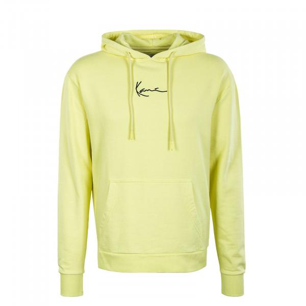 Herren Hoody - Small Signature - Washed Light Yellow