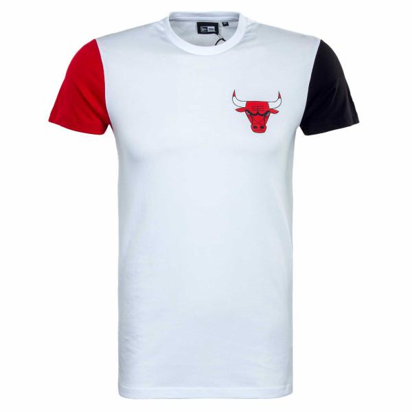 Herren T-Shirt - NBA Color Block Chi Bulls - White