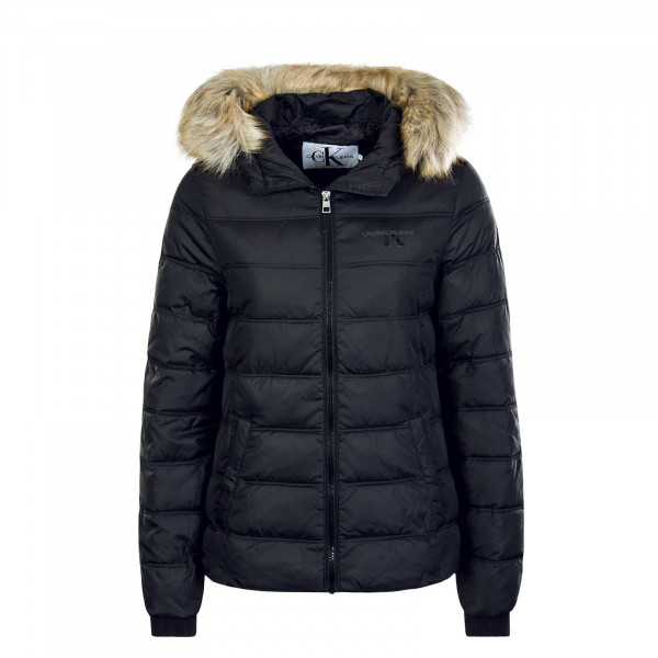 Damen Jacke Puffer Fitted Black