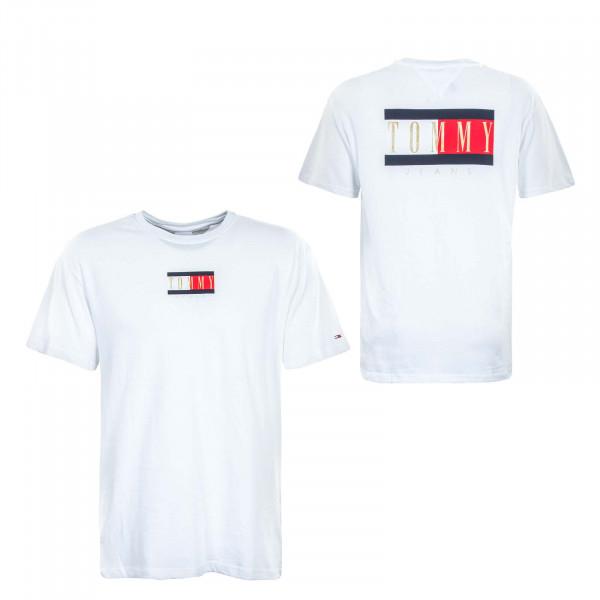 Herren T-Shirt - TJM Vintage Flag Print - White
