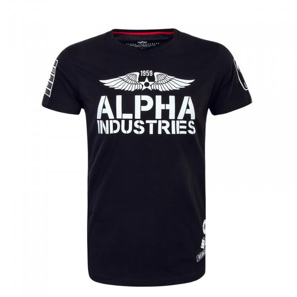 T-Shirt Rebel Black White
