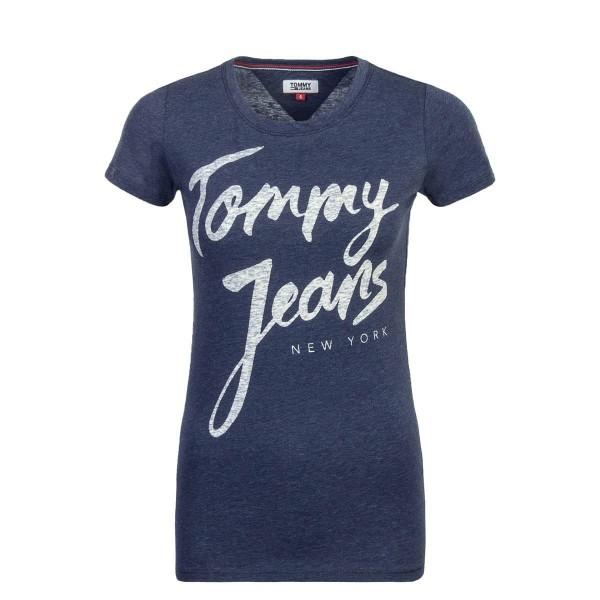 Tommy Wmn TS TJW Script Logo Blue