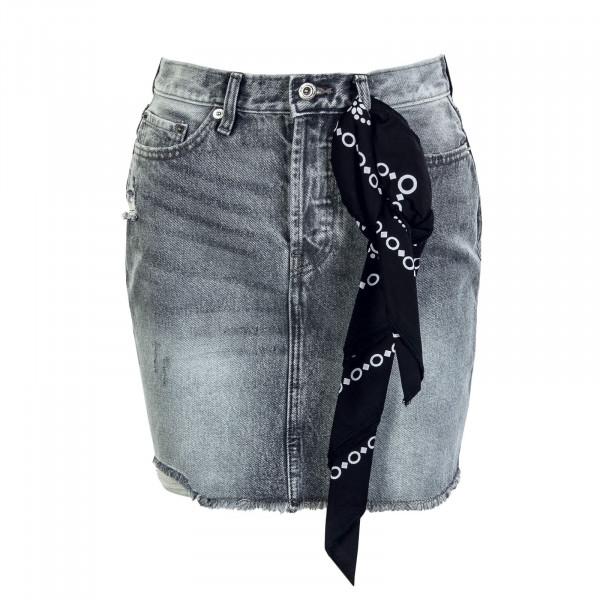 Damen Rock - Fine HW Life Denim Jeans - Grey