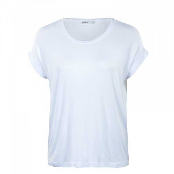 Damen Shirt - Moster Neck Top - White