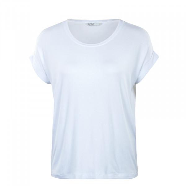 Damen T-Shirt - Moster Neck Top - White