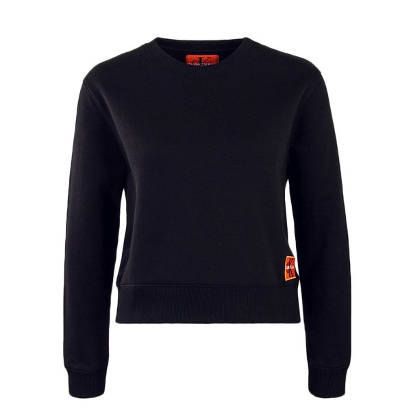 CK Wmn Crop Sweat Monogram Badge Black