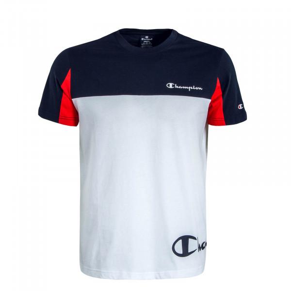 Herren T-Shirt White Blue Red