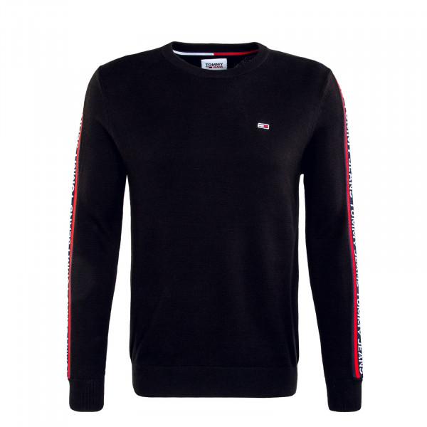 Herren Sweatshirt TJM Sleeve Tape Knit Sweat Black