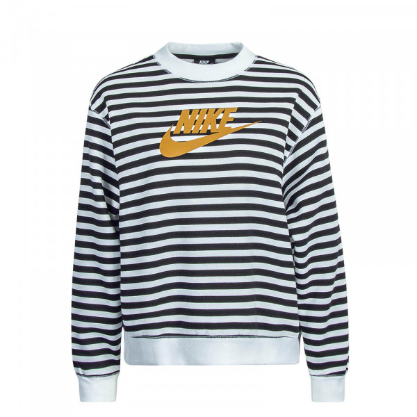 Damen Sweatshirt Crew Stripe White Black