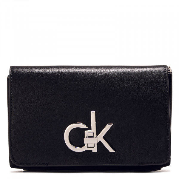 Bag RE Lock Flap Cross Body Black