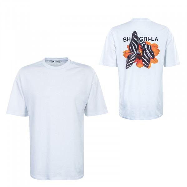 Herren T-Shirt - Shangri la Butterflies - White