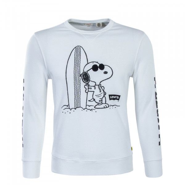 Herren Sweatshirt Graphic Peanuts White