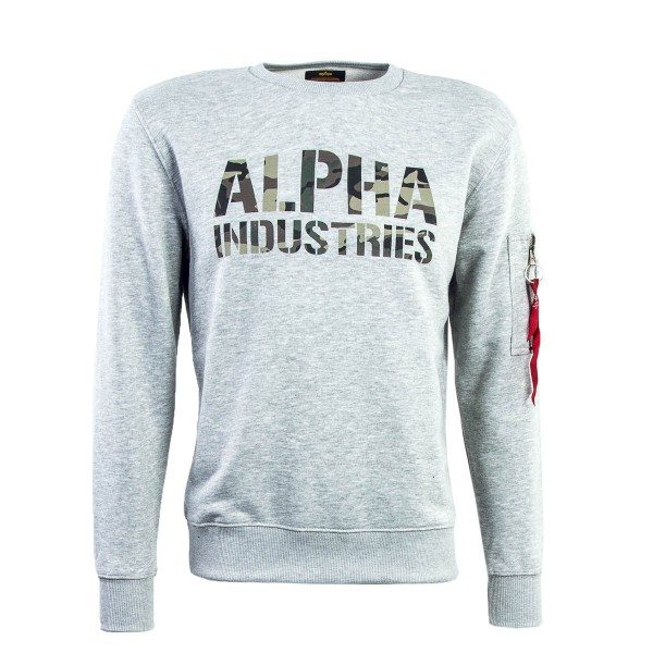 Alpha Sweat Camo Print Grey  Green