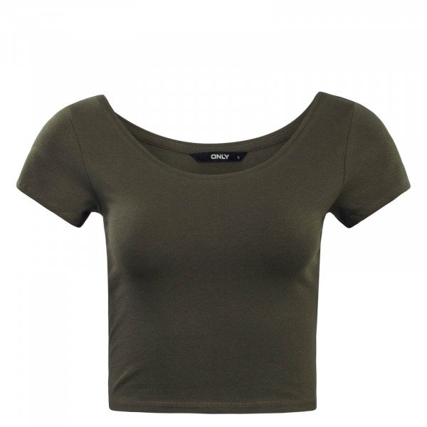 Damen T-Shirt  Live Love Cropped Olive