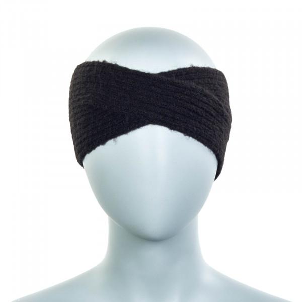 Damen Stirnband Hellen Alpaca Black