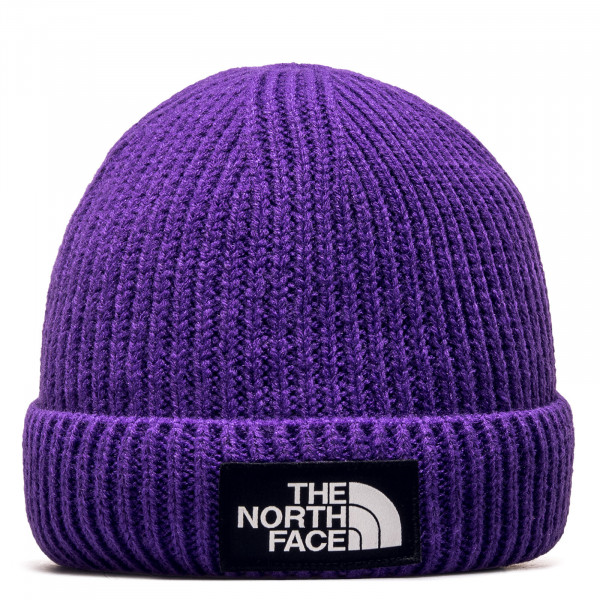Beanie Logo Box Cuffed Peak Purple