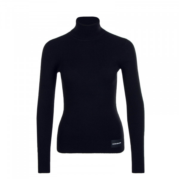 Damen Longsleeve Knit Iconic Rib Black