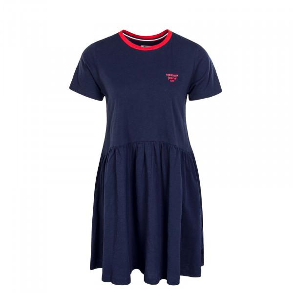 Kleid Contrast Binding Navy