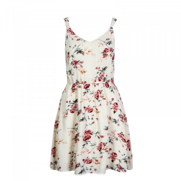Kleid Karmen Flower Beige Rosa