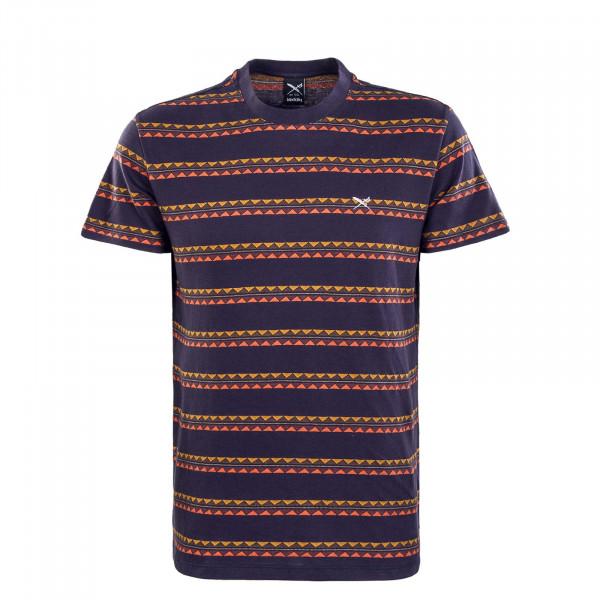 Herren T-Shirt - Monte Noe Jaque - Navy / Orange
