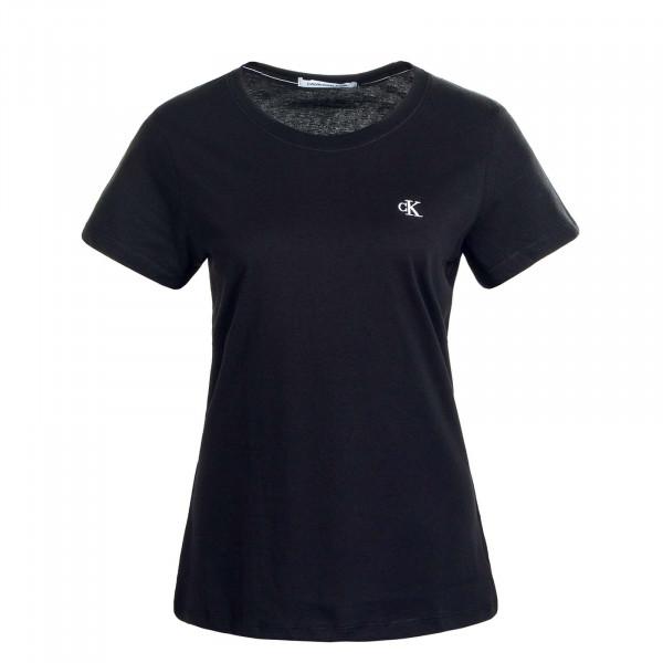 Damen T-Shirt  Embroidery Black