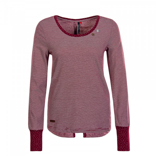 Damen Longsleeve Malina Stripe Wine Red