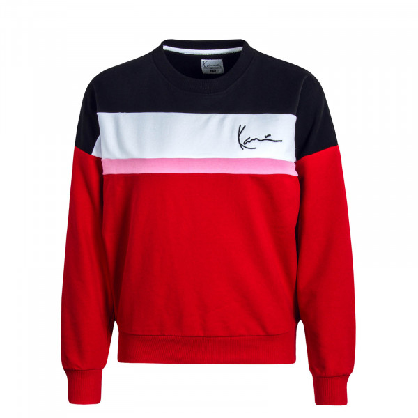 Damen Sweatshirt Signature Block Red Black