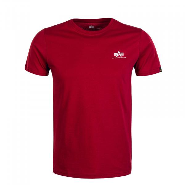 Herren T-Shirt Basic Small Logo RBF Red