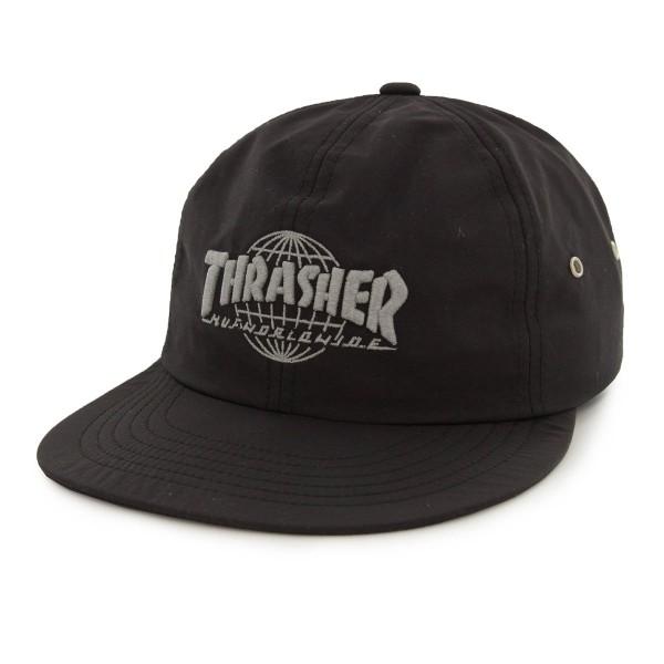 Huf X Thrasher Cap 6Panel TDS Black