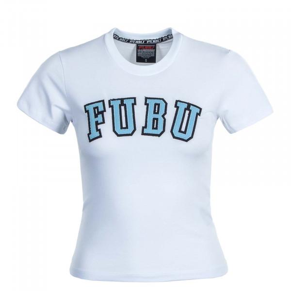 Damen T-Shirt College Crop White