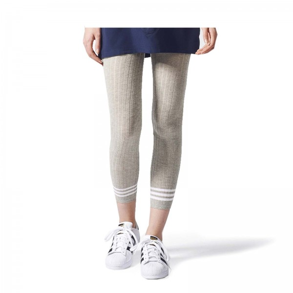 Adidas Wmn Leggings Tight 3 Stripes Grey
