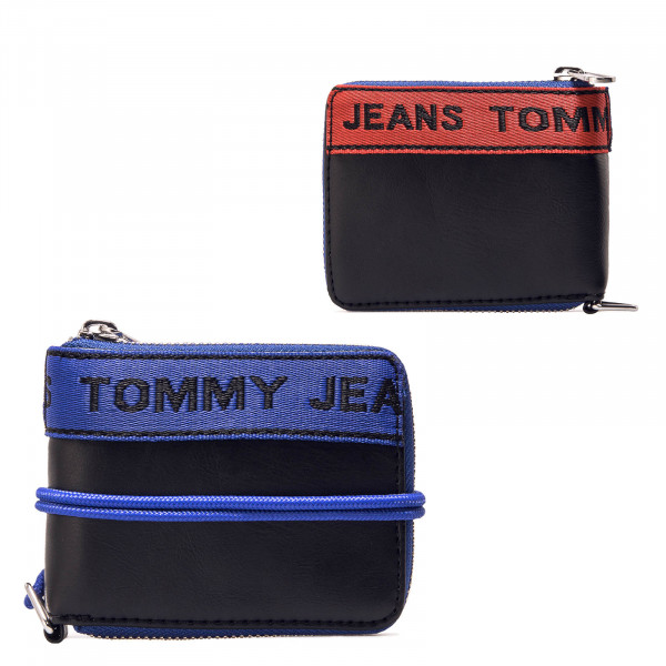 Wallet TJ Logo Tape Black Navy Red