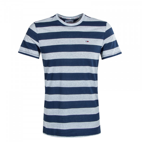 Herren T-Shirt TJM Heather Stripe Grey Navy