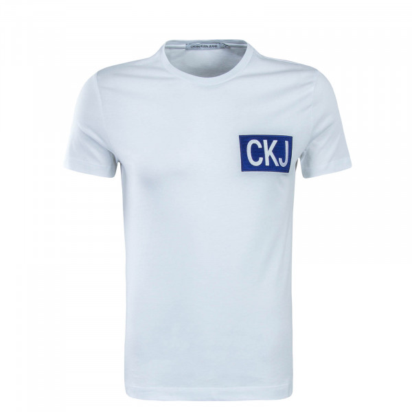 Herren T-Shirt CKJ Box White Blue