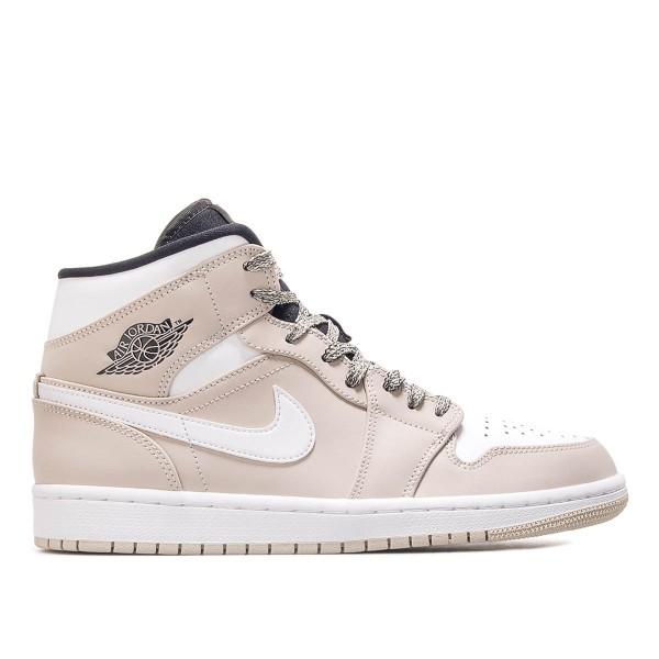 Nike Air Jordan 1 Mid Beige White