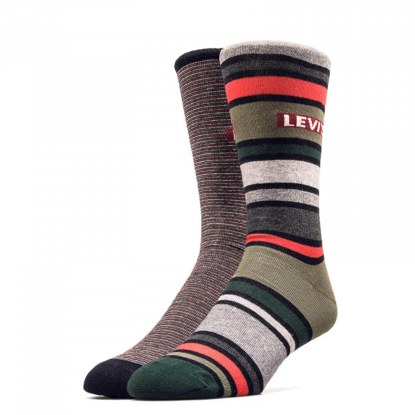 Socken 2er-Pack 168SF Regular Stripe Olive
