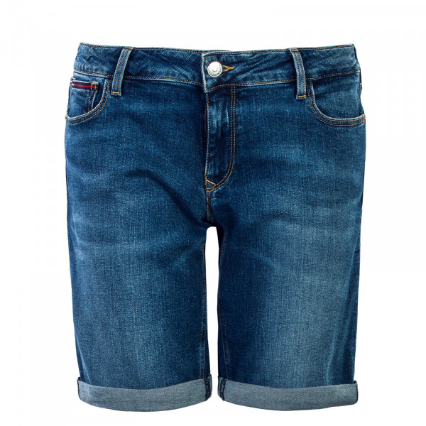 Damen Short Classic Denim Longer Blue
