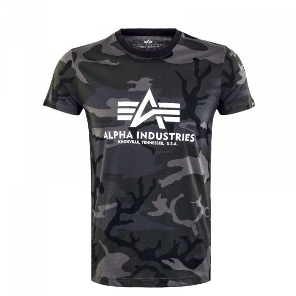 Herren T-Shirt - Basic Camouflage - Black