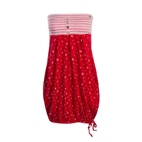 Ragwear Wmn Dress Scene Red