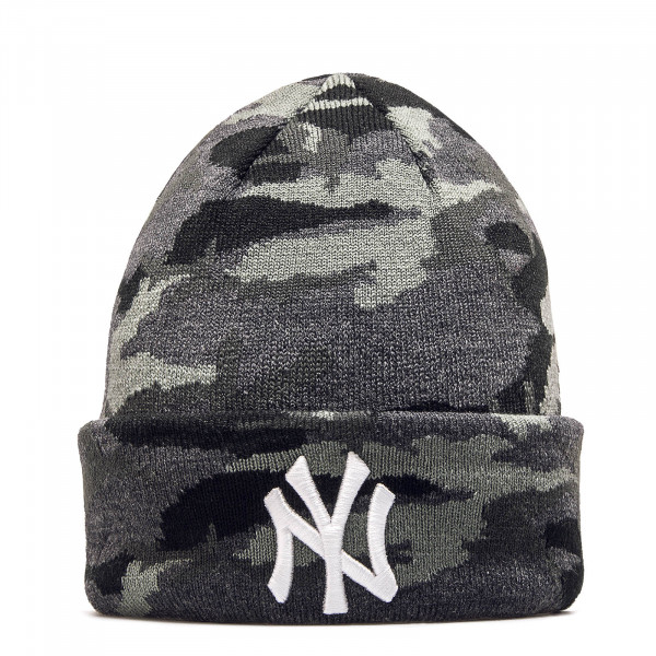 New Era Beanie NY Camo Grey White